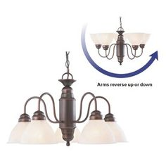 The light I want for the dining room: Portfolio 5-Light Bronze Chandelier @ Lowe's
