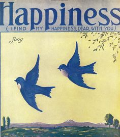 Bluebirds of Happiness ~ vintage sheet music