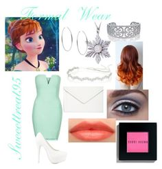 Anna Formal Wear by sweeettreat95 on Polyvore featuring polyvore fashion style Rare London Nly Shoes Isaac Mizrahi Bling Jewelry Once Upon a Time Michael Kors Jennifer Behr Bobbi Brown Cosmetics clothing frozen anna