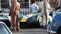 Lister before the start of the Memorial Salvadori at Goodwood 2012
