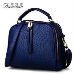 2016 Spring Women Bags Weave Tassel Women PU Leather Handbags Women Shoulder Bag Ladies Casual Women Messenger Bags New BH1150 - GKandAa - 1