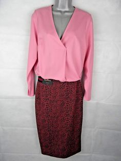 677cc15f974 M amp S Dusky Pink Top Size 24 V Neck Drape Pleat Long Sleeve Office Plus