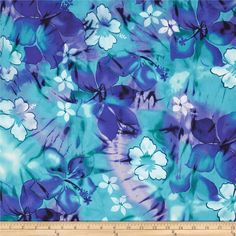 Tropical Floral Purple/Turquoise, fabric.com