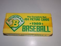 1989 BOWMAN THE COMPLETE BASEBALL SEALED FACTORY SET 484 CARDS KEN GRIFFEY JR RC