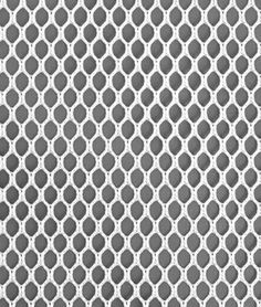 Polyester Hex Mesh - White Fabric - by the Yard Polyester Width: 50 inches Thickness: 39 mil Stitch count: 18 holes per square inch Weight: ounce per sq yard Construction: Raschel Drapery Fabric, Mesh Fabric, Elevated Dog Bed, Produce Bags, White Brand, Fabric Textures, Paint Shop, Craft Stick Crafts, Diy Crafts