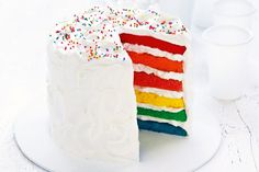 Today's recipe is 6 layers rainbow cake. If you want to make best and easy rainbow cake at home, then trust me you are in right place. This is the easiest recipe of rainbow cake. This is the perfect cake for any event or celebration, … Easy Rainbow Cake Recipe, Rainbow Layer Cakes, Cake Rainbow, Rainbow Theme, Rainbow Colors, Meringue Frosting, Whipped Icing, White Frosting, 50th Cake