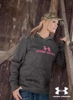 Made of a cotton/poly blend, this hooded sweatshirt touts an antler logo, a quilted kangaroo pocket, moisture-wicking ColdGear® technology, and a semi-fitted design that is figure-flattering and mobility-enhancing. #UnderArmour #basspro #activeapparel