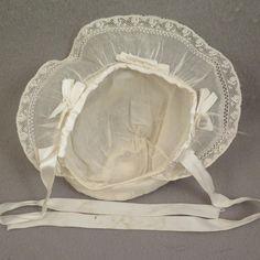 1930s to 1940s Fancy Doll Baby Bonnet