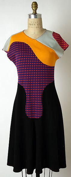 Dress Designer: Stephen Burrows (American, born 1943) Department Store: Bonwit Teller & Co. (American, founded 1907) Date: 1965–75 Culture: American Medium: wool