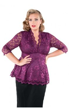 Perfection in Plum Lace Top