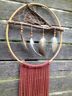 Boho feather gypsy natural DREAMCATCHER by SimplyDelicates on Etsy