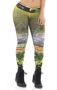 Fiber - Green Camo and Studs Leggings Girls In Leggings, Best Leggings, Workout Clothes Cheap, Workout Clothing, Athletic Outfits, Athletic Clothes, Athletic Gear, Fitness Gifts, Fitness Gear