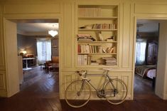 A closer look at Villanelle's Parisian apartment Closer, Paris Flat, French Country Decorating, Interior Design Inspiration, Bookcase, Sweet Home, Baby, Interior Decorating, House