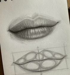 Portrait Drawing Tips, Portrait Sketches, Art Drawings Sketches Simple, Pencil Art Drawings, Realistic Drawings, Cool Drawings, Sketch Art, Sketches To Draw, Drawings Of Lips