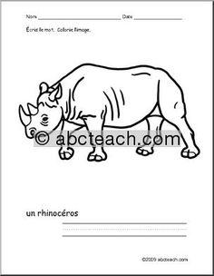 9 Best French Language Worksheets for K4/K5 images