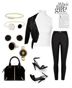 """""""Untitled #204"""" by susannhaabeth on Polyvore featuring LULUS, Ginette NY, Acne Studios, Humble Chic, David Yurman and Versace"""