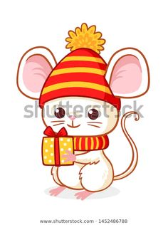 Стоковая векторная графика «Cute Little Mouse On White Background» (без лицензионных платежей), 1452486788 Christmas Nail Art, Christmas Themes, Christmas Crafts, Christmas Decorations, Christmas Ornaments, Rustic Tree Topper, Jewelry King, Kids Room Paint, Baby Illustration