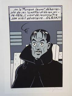 Jacobs, E.P. - Gesigneerde zeefdruk Répérage - Blake et Mortimer - Olrik - (1981) - W.B.