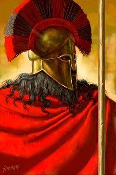 Spartan Warrior by Johnny Shumate Greek History, Ancient History, Art History, Ancient Sparta, Greek Soldier, Greek Warrior, Spartan Warrior, Greek Art, Ancient Civilizations