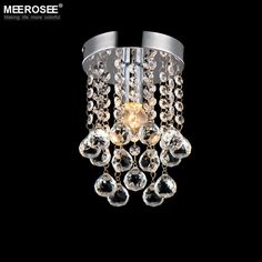 Luxury crystal chandelier lighting meerosee lighting Chrome lustre fixtures shipping MD3038 D150mm H230mm