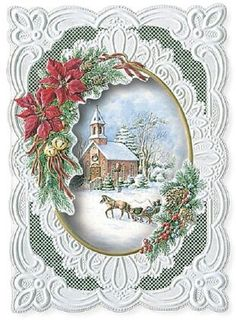 Victorian card Old Christmas, Christmas Cards To Make, Victorian Christmas, Vintage Christmas Cards, Xmas Cards, Christmas Greetings, Vintage Cards, Holiday Cards, Christmas Crafts