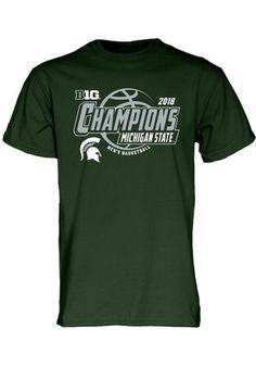 33a2befb5f8 Michigan State Spartans Green 2019 NCAA Sweet 16 Tee. Msu ApparelMichigan  State UniversityMichigan ...