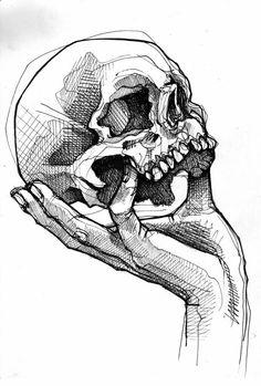 Skeleton Drawings, Dark Art Drawings, Pencil Art Drawings, Art Drawings Sketches, Badass Drawings, Tattoo Sketches, Art Du Croquis, Anatomy Sketches, Arte Sketchbook