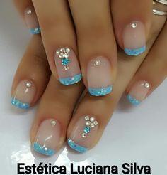 Diseños de uñas 💅 Glam Nails, Fancy Nails, Bling Nails, Beauty Nails, Cute Nails, Pretty Nails, Colorful Nail Designs, Cool Nail Designs, Lexi Nails