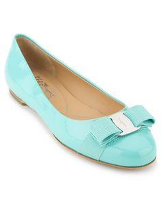 Salvatore Ferragamo 'Varina' Patent Flat--Tiffany blue, anyone? Crazy Shoes, Tiffany Blue, Your Shoes, Fashion Shoes, Women's Fashion, Salvatore Ferragamo, Wedding Shoes, Shoe Boots, Leather Flats