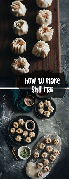 Learn how to make the famous dim sum classic, shumai - steamed dumplings filled with juicy pork and shrimp. It's a perfect party food to make in advance and serve later. party food How to Make Shumai (烧麦, Steamed Dumplings) Pork Recipes, Asian Recipes, Cooking Recipes, Dim Sum Receta, Party Food To Make, Dumpling Filling, Steamed Dumplings, Chinese Dumplings, Chinese Recipes