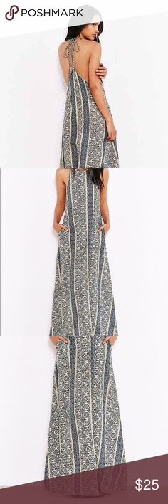 Band of gypsies dress Boho gypsy dress with adjustable straps to create a low back dress or as pictured. Band of Gypsies Dresses Maxi