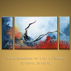 Hand Painted Elegant Modern Abstract Painting Wall Art Artist Artworks. In Stock $158 from OilPaintingShops.com @Bo Yi Gallery/ ops9136