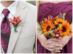 Maroon & Sunflowers - Tina Elizabeth Photography