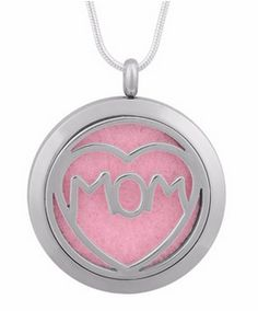 """""""Mom, I love you"""", essential oil necklace for mother's day"""
