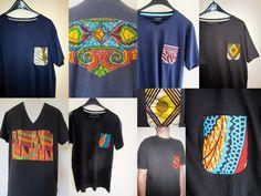 tee shirt personnalisés en tissu wax africain. Céwax personnalise vos vêtements avec du pagne et met des touches de couleurs dans votre dressing. www.cewax.fr
