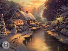 Image Search Results for thomas kinkade christmas