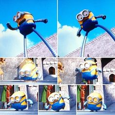 minions bob but long legs Minion 2015, Minions Bob, Long Legs, Sonic The Hedgehog, Animation, Baseball Cards, Fictional Characters, Robot, Smile