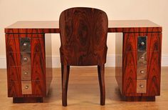Deco Rosewood Chair And Desk Set by canonburyantiques, via Flickr