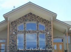Rolled River Rock | Kodiak Mountain Stone Stone Gallery, Manufactured Stone, Rolls, Mountain, River, Decor, Decorating, Bread Rolls, Inredning