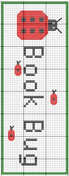 Book Bug Bookmark Cross Stitch Pattern