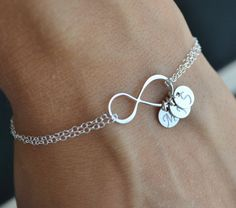 Mother's Infinite Love Sterling Silver Charm by LeBijouxBee