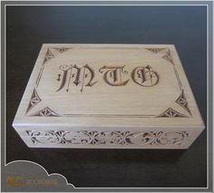 Magic the Gathering card box  MTG EDH deck by Alesthewoodcarver, $156.00