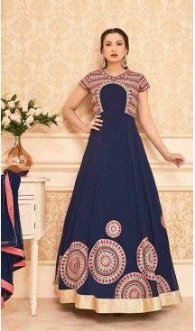 Navy Blue Color Georgette Long Anarkali Style Pakistani Salwar Kameez | FH542681466 Follow Us @heenastyle << #pakistanifashion #onlineshoppingusa #heenastyleonlineshoppingindia #onlineshoppingusa #onlineshoppingindia #saree #sari #indianwear #indiangirls #indiagirl #boutiquecowgirl #countrygirls #onlineshoppingusa #classyfashion #classyladies #cutoutdress #luxurylook #littlewhitedress #stylists #fashion #fashionista #onlineshoppingusa #shopmystore #outfitideas #girlsbelike #heenastyle