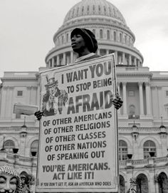 I want you to stop being afraid...