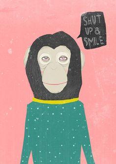 #Monkey #Animal #Illustration #Graphic #Design