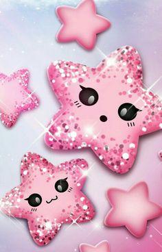 Cute pink stars squishies в 2019 г. screen wallpaper, pink w Cute Wallpaper For Phone, Star Wallpaper, Glitter Wallpaper, Cute Wallpaper Backgrounds, Love Wallpaper, Cellphone Wallpaper, Cute Cartoon Wallpapers, Screen Wallpaper, Disney Wallpaper