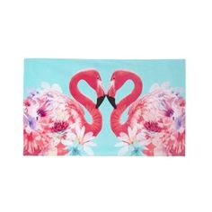 Butterfly Home by Matthew Williamson Designer pale blue flamingo beach towel- at Debenhams Mobile