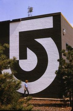 Wyman Cannan (Lance Wyman, Bill Cannan) — WCVB TV Channel 5 #logo #arrow #environmental