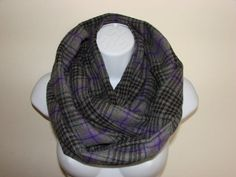 purple grey plaid infinity scarf grey Flannel by OtiliaBoutique Autumn Winter Fashion, Fall Winter, Plaid Infinity Scarf, Grey Flannel, Purple Grey, Scarf Styles, Cowl, Unisex, Trending Outfits