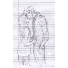 the afterlife ❤ liked on Polyvore featuring drawings, couples, fillers, art, sketches, doodles and scribble